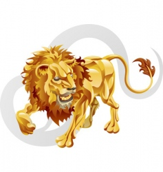 Leo the lion star sign vector image vector image