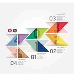 Modern Design template can be used for infograph vector image vector image