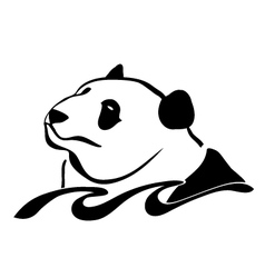 panda in the sea vector image vector image