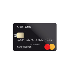 Plastic credit card with nfc chip vector