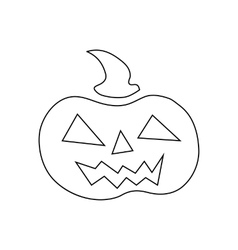 Pumpkin for halloween icon outline style vector image vector image