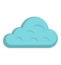 Rainy cloud icon isolated vector