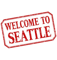 Seattle - welcome red vintage isolated label vector