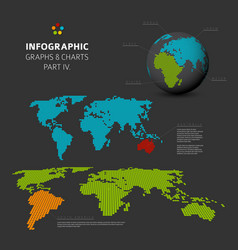 Set of flat design infographic charts and graphs 4 vector