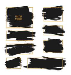 strokes abstract backhground set black vector image vector image