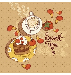 Sweet Time vector image vector image