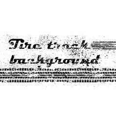 Tire track grunge background vector