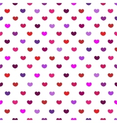 White and pink hearttextile print seamless pattern vector image vector image