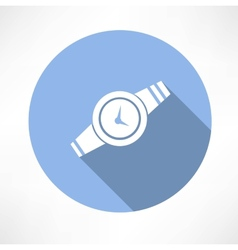 Wristwatch icon vector image