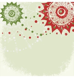 Vintage grungy New Year Christmas background vector image
