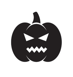 Black angry halloween pumpkin vector