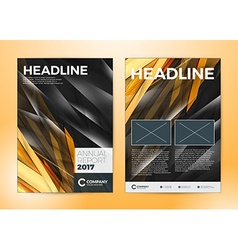 Annual report brochure flyer design template cover vector