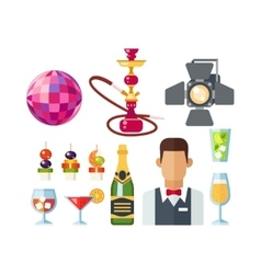 Night club icons vector