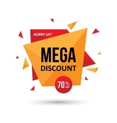 Mega discount geometric design vector