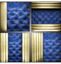 gold on fabric background set vector image