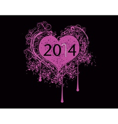 2014 heart vector image