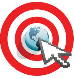 internet arrow clicks vector image