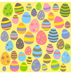 Yellow easter seamless pattern with eggs vector