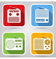 Radio receivers icons vector