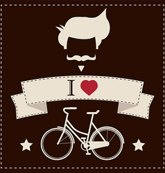 I love hipster vintage hair style mustache and vector