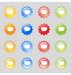 Cloud sign icon data storage symbolset colourful vector