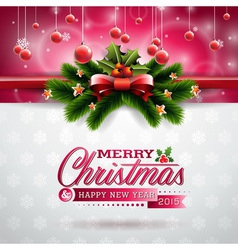 Christmas design with typographic elements vector image