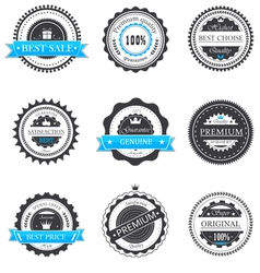 Premium quality guarantee badges vector