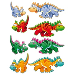 Types of dinosaurs vector