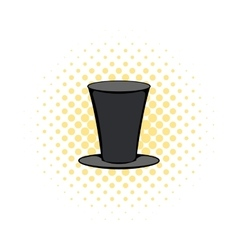 Male black cylinder icon comics style vector