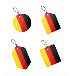Flag germany labels vector