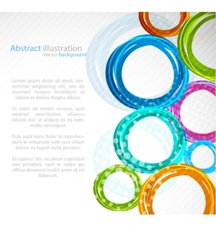 Abstract colourful circle vector