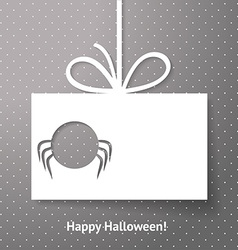 Applique card or background with spider Halloween vector image