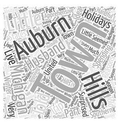 Auburn hills michigan word cloud concept vector