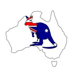 Australian kangaroo vector image