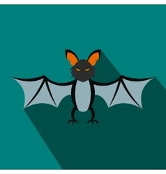 Bat flat icon with shadow vector image vector image