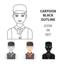 Belgian guy in a cap and waistcoatthe dark vector