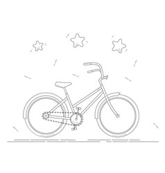 bike coloring book black and white line drawing vector image vector image