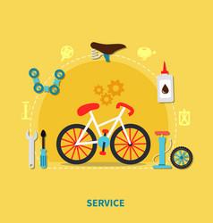 bike service concept vector image vector image