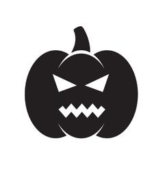 Black angry Halloween pumpkin vector image