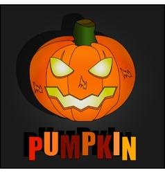 Black Halloween With Pumpkin vector image