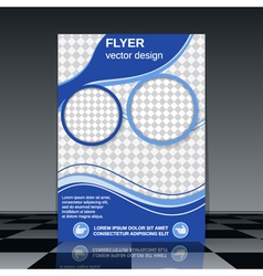 Business flyer template vector image