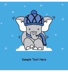 cold elephant vector image