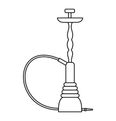 Eastern hookah icon outline style vector