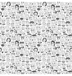 Faces - seamless bacground vector image vector image