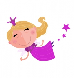 fairy princess vector image vector image