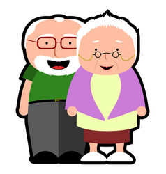 Isolated grandparents icon vector