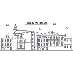 italy potenza architecture line skyline vector image