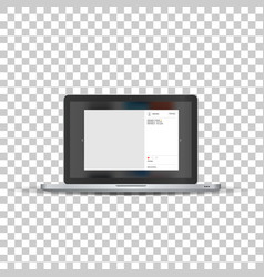 Laptop with social network photo frame vector