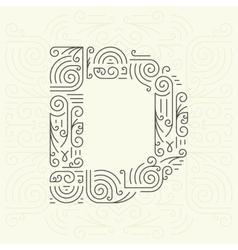 Letter D Golden Monogram Design element vector image vector image