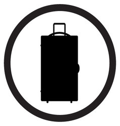 Luggage icon black white vector